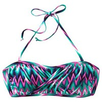 Xhilaration® Junior's Bandeau Swim Top -Multicolor Print