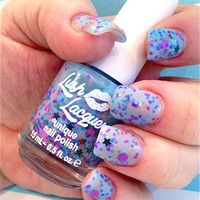 NEW--Blue Gypsy:  Custom-Blended Glitter Nail Polish / Lacquer