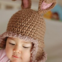 Rabbit Hat Newborn and 03M by beliz82 on Etsy