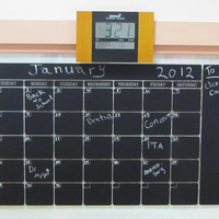 Free Shipping - Chalkboard Wall Calendar Wall Decal 22 X 36 Day Planner decal