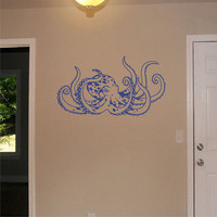 Free Shipping - Octopus Wall Decal Nursery Wall Sticker Art