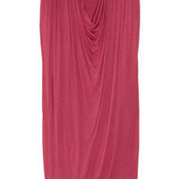 Alexander McQueen|Draped jersey dress|NET-A-PORTER.COM
