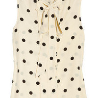 Marc by Marc Jacobs | Hot Dot silk blouse | NET-A-PORTER.COM