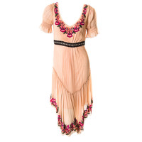 John Galliano folkloric dress with sequin trim