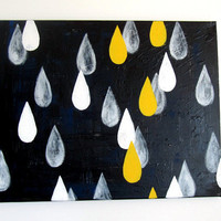 No 4  Modern Raindrop Painting 16 x 20 on by adrianeduckworth
