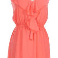 Longing for Summer Sundress in Coral - New Arrivals