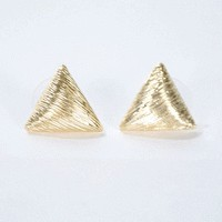 Golden Girls Studs in Triangle - New Arrivals