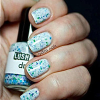 NEW--Dream On:  Custom-Blended Glitter Nail Polish / Lacquer