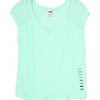 Lace-back Raglan Tee