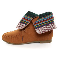 Diva Lounge Starcy 40 Chestnut Suede Convertible Moccasin Boots - &amp;#36;33.00
