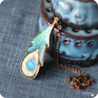 Necklace - Peacock Feather