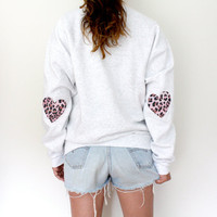 ALL NEW Elbow Heart Sweatshirt - Leopard Print - Limited Edition