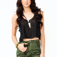 cropped-tank BLACK CORAL IVORY MINT - GoJane.com