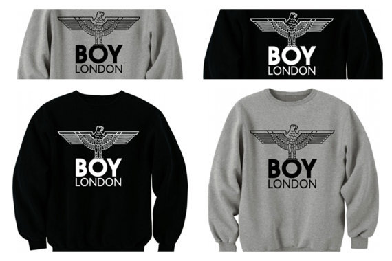 boy london sweatshirt jumper pullover from meronepal on etsy. Black Bedroom Furniture Sets. Home Design Ideas