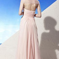 Shar in Pink Off Shoulder Bridesmaid Dress