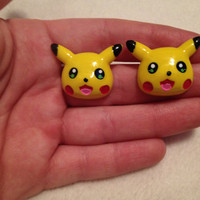 Pikachu Pokemon Earrings by AgnesElizabeth on Etsy