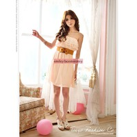 Strapless Chiffon Mini Dress