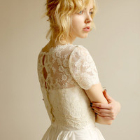 Elandra--2 Piece, Lace and Silk Wedding Dress