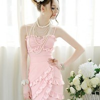 Pink mini fashion dress