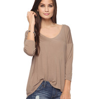3/4 Sleeve Jersey Top | FOREVER21 - 2000021659