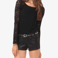 Lace Raglan Sleeve Top | FOREVER21 - 2044315584