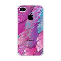 Amazon.com: Pink Feather rubber iphone 4 case - Fits iphone 4 & iphone 4s: Cell Phones & Accessories