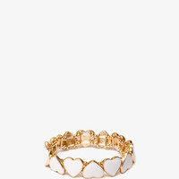 Lacquered Hearts Stretch Bracelet | FOREVER21 - 1037769148
