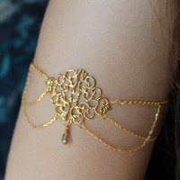 Gypsy Armlet, Gypsy Arm Band, Gypsy Armet, Arm Jewelry