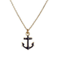 Small Anchor Pendant Necklace