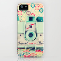 Film Mint Camera on a Colourful Retro Background  iPhone Case by Andrekart | Society6