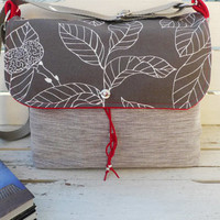 Cute Messenger bag with leaf Pattern  / School bag by ottobags