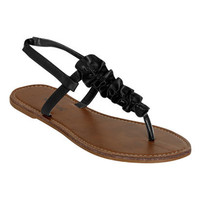 Ruffle T-Strap Sandal | Shop Shoes at Wet Seal