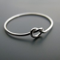 Knot ring  recycled sterling silver ring by junedesigns on Etsy
