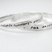Personalized Friendship Bracelet SET OF TWO  Winnie by emerydrive