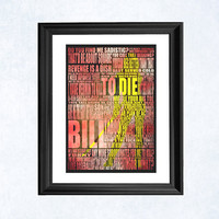 Kill Bill art print by purplecactusdesign on Etsy
