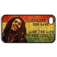 Amazon.com: Bob Marley Quotes Vintage case for iPhone 4 4s / iPhone 4 4s case hard cases / iPhone 4 4s Design and made to order / custom cases: Everything Else