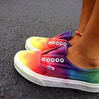 Custom Tie Dye Vans by ShoesForTheSole on Etsy
