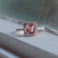 118ct Cushion peach lavender champagne sapphire by EidelPrecious