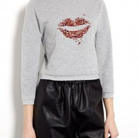 Lightweight Ponti Cropped Sweat Top by 3.1 Phillip Lim