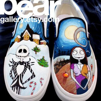 Nightmare Before Christmas-- Custom Vans from beargallery on