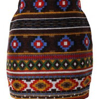 Aztec Pattern Knit Skirt