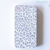 iphone case  Grey Leopard by BlissfulCASE on Etsy