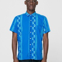 American Apparel - Printed Short Sleeve Tropical<br/>Button-Up With Pocket
