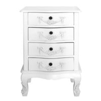 Toulouse White 4 Drawer Chest | Dunelm Mill