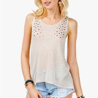 A'GACI Stars and Studs Hi Lo Tank - TOPS