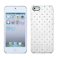 White Lace - Luxury Protector Case with Diamonds for Apple iPhone 5 [AT&T, Verizon Wireless]