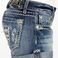 Miss Me Glitz Cuffed Stretch Short - Women's Shorts | Buckle