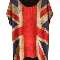 Slouchy Britain Flag Tees