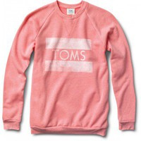 Women's Heather Coral Classic Crew | TOMS.com