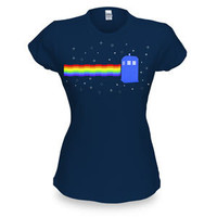 Nyan Cat TARDIS Babydoll